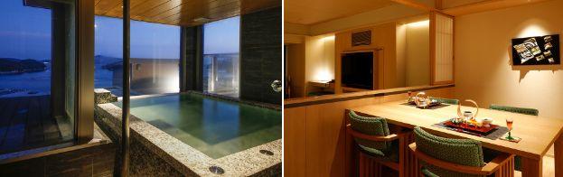 6階温泉露天風呂付き特別室露天風呂