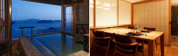 7階温泉露天風呂付き特別室露天風呂