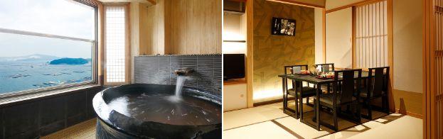9階温泉露天風呂付き特別室露天風呂