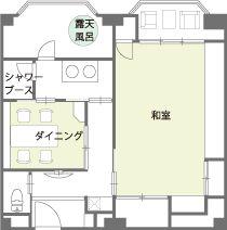 9階温泉露天風呂付き特別室間取り