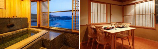 9階温泉露天風呂付き特別室バリアフリー露天風呂