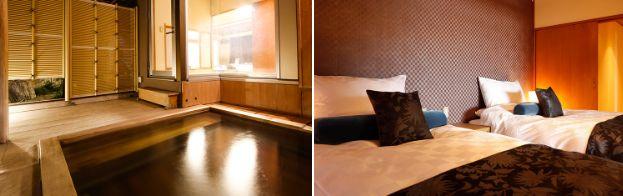 水の星1階特別室「箒星」温泉露天風呂